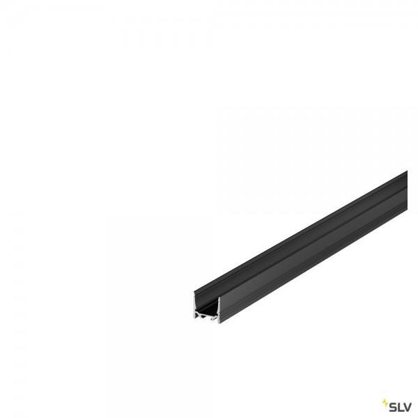 SLV 1000516 Grazia 3532, Aufbauprofil, schwarz, B/H/L 3,5x3,2x300cm, LED Strip max.B.2cm