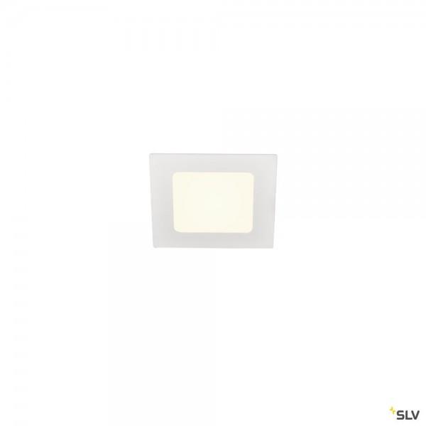 SLV 1004697 Senser 12, Deckeneinbauleuchte, weiß, LED, 6W, 4000K, 440lm