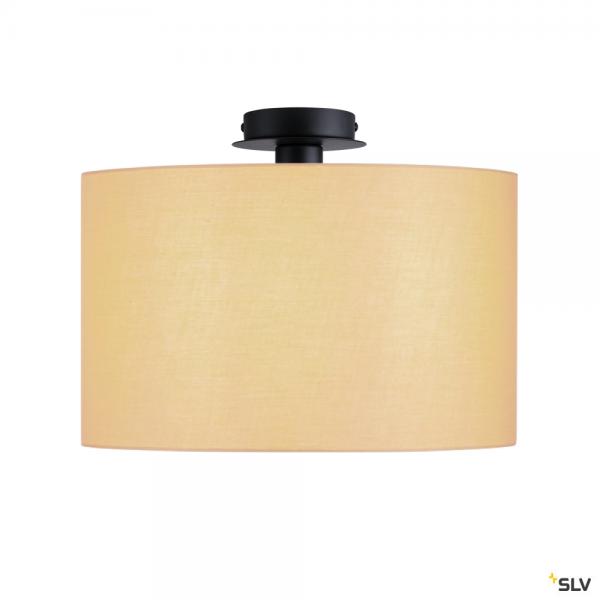 SLV 155550 + 156113 Fenda, Deckenleuchte, schwarz/beige, Ø45,5cm, E27, max.60W