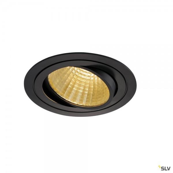 SLV 114260 New Tria 1 Set, Einbauleuchte, schwarz, dimmbar 1-10V, LED, 29W, 2700K, 2210lm