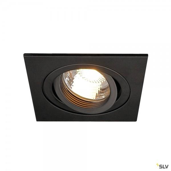 SLV 111720 New Tria 1, Deckeneinbauleuchte, schwarz matt, QPAR51, GU10, max.50W