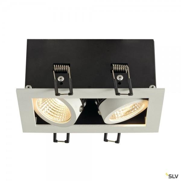 SLV 115711 Kadux 2 Set, Deckeneinbauleuchte, dimmbar Triac C+L, LED, 15W, 3000K, 1290lm