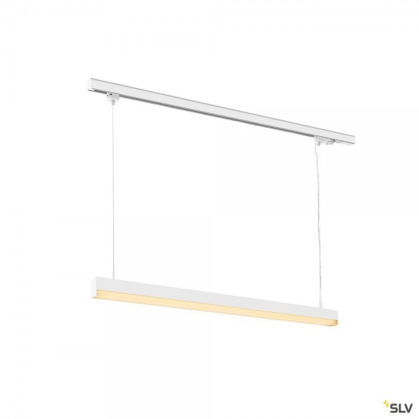 SLV 1002049 Sight Track, 3Phasen, Pendelleuchte, weiß, LED, 40W, 3000K, 3100lm