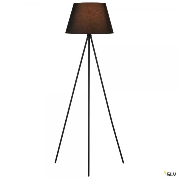 SLV 155490 + 156180 Fenda, Stehleuchte, schwarz, Ø45,5cm, E27, max.40W