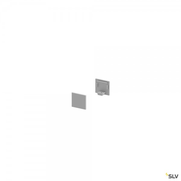 SLV 1000478 Grazia 10, Endkappen, alu eloxiert, flach, 2 Stück