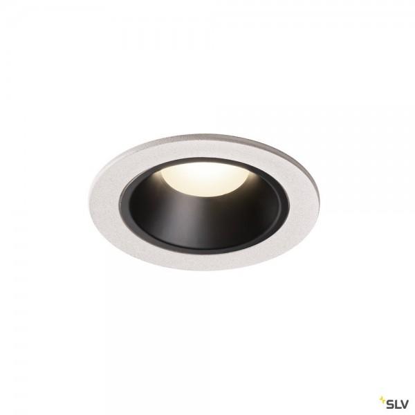 SLV 1003835 Numinos S, Deckeneinbauleuchte, weiß/schwarz, LED, 8,6W, 4000K, 730lm, 55°