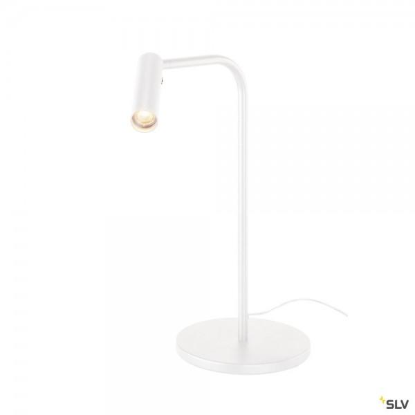 SLV 1001460 Karpo, Tischleuchte, weiß, dimmbar, LED, 6,5W, 3000K, 400lm