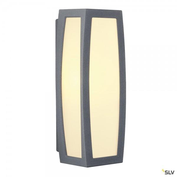 SLV 230045 Meridian Box, Wand- und Deckenleuchte, anthrazit, IP54, E27, max.25W