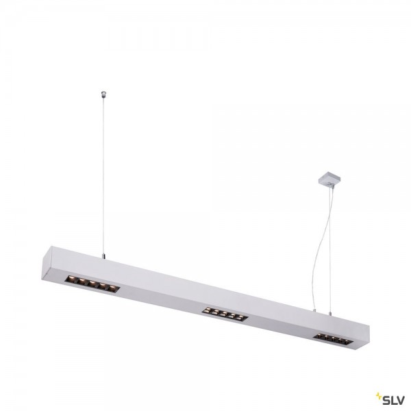SLV 1000928 Q-Line, Pendelleuchte, silber, dimmbar C, LED, 45W, 3000K, 2100lm