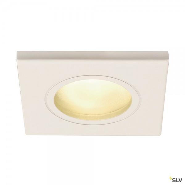 SLV 1001169 Dolix Out, Deckeneinbauleuchte, weiß, IP65, QPAR51, GU10, max.50W