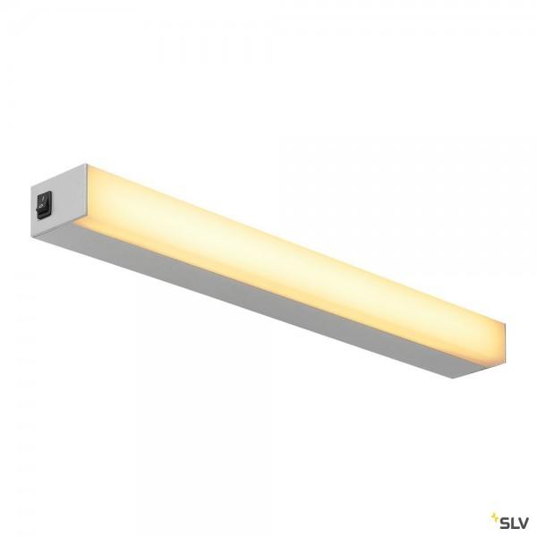 SLV 1001285 Sight 60, Wand- und Deckenleuchte, silbergrau, mit Schalter, LED, 20W, 3000K, 1490lm