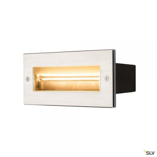 SLV 233660 Brick, Wandeinbauleuchte, Edelstahl, IP65, LED, 11W, 3000K, 850lm