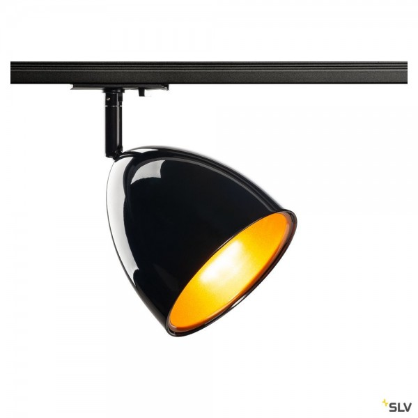 SLV 1002873 Para Cone 14, 1 Phasen, Strahler, schwarz, QPAR51, GU10, max.25W