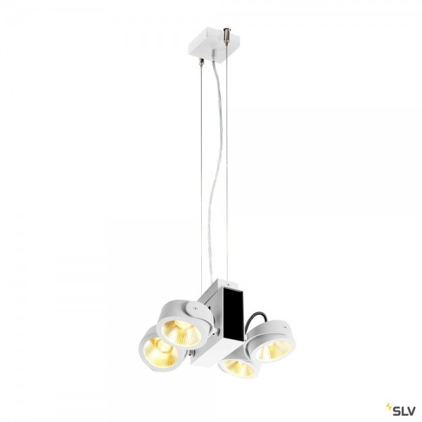 SLV 1001436 + 1001434 Tec Kalu, weiß, dimmbar C, LED, 60W, 3000K, 3800lm, 24°