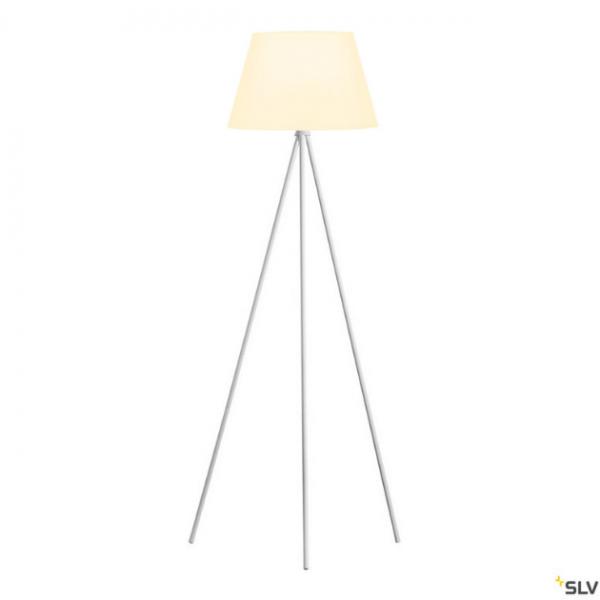 SLV 1003033 + 156181 Fenda, Stehleuchte, weiß, Ø45,5cm, E27, max.40W