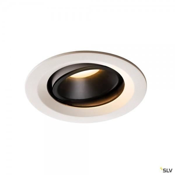 SLV 1003592 Numinos Move M, Deckeneinbauleuchte, weiß/schwarz, LED, 17,55W, 3000K, 1500lm, 40°