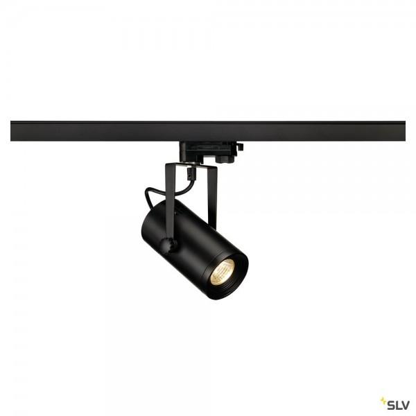 SLV 1001367 Euro Spot, 3Phasen, Strahler, schwarz, LED, 11W, 3000K, 650lm, 36°