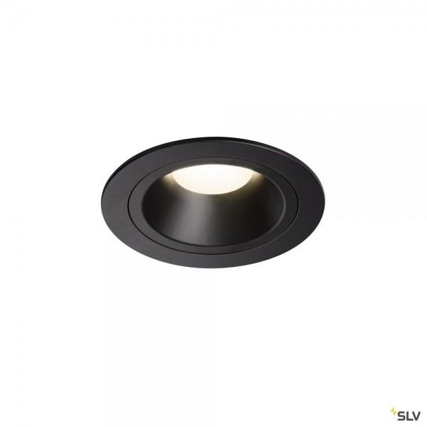 SLV 1003892 Numinos M, Deckeneinbauleuchte, schwarz, LED, 17,55W, 4000K, 1600lm, 40°