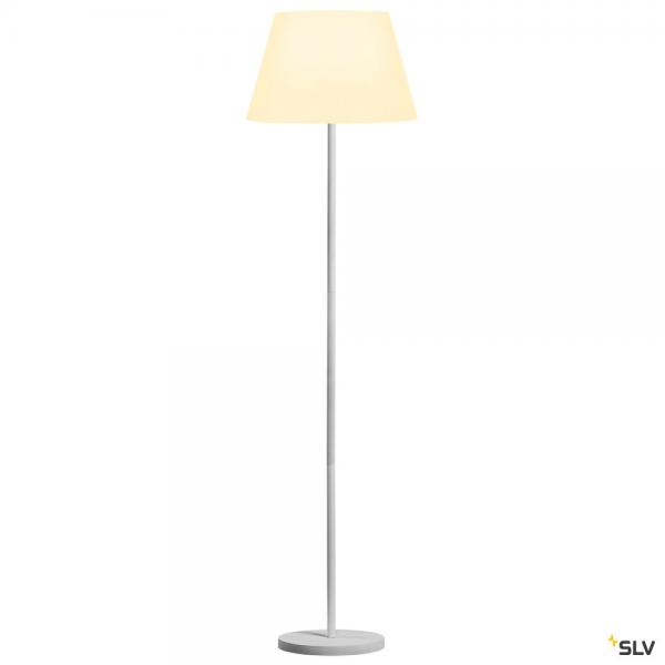 SLV 1003031 + 156181 Fenda, Stehleuchte, weiß, Ø45,5cm, E27, max.60W