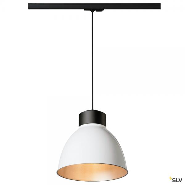 SLV 143120 + 1002053 + 1002057 Para Dome, 1 Phasen, Pendelleuchte, schwarz/weiß, E27, max.150W