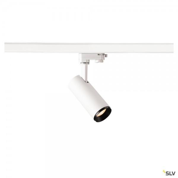 SLV 1004079 Numinos S, 3Phasen, Strahler, weiß/schwarz, dimmbar C, LED, 10,42W, 2700K, 985lm, 36°