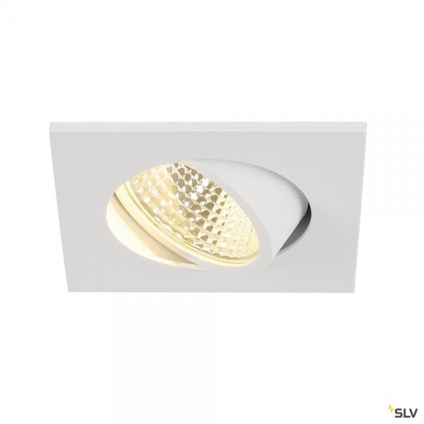 SLV 113961 New Tria 1 Set, Deckeneinbauleuchte, weiß, LED, 5,3W, 3000K, 300lm