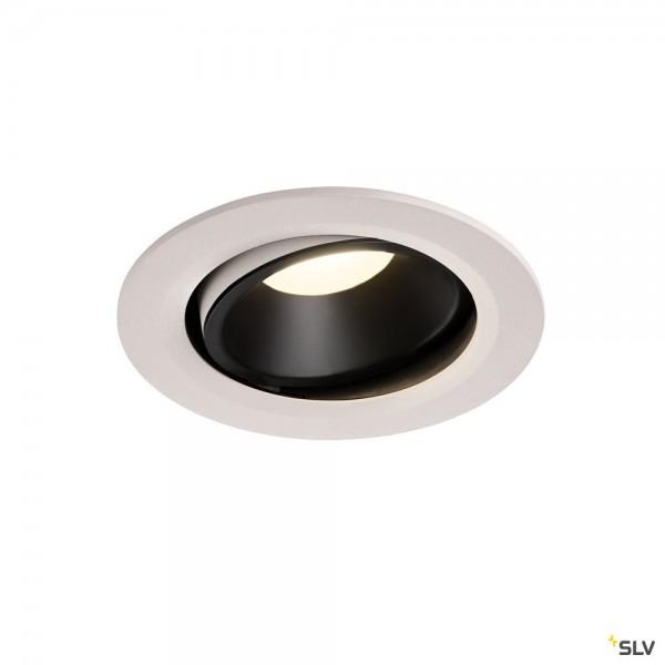 SLV 1003691 Numinos Move L, Deckeneinbauleuchte, weiß/schwarz, LED, 25,41W, 4000K, 2350lm, 55°