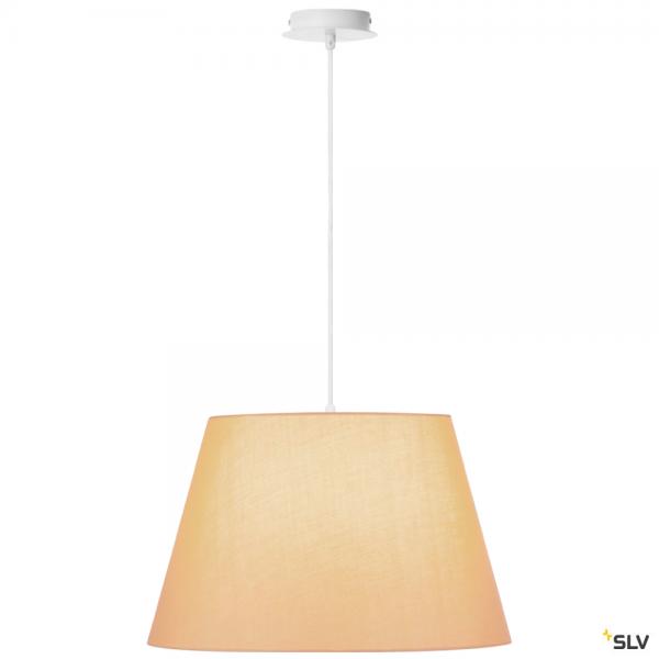SLV 155561 + 156183 Fenda, Pendelleuchte, weiß/beige, Ø45,5cm, E27, max.60W
