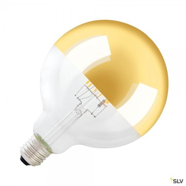 SLV 1003099 Spiegelkopflampe, gold, Dim to Warm, G125, E27, LED, 4W, 2000K-2900K, 400lm