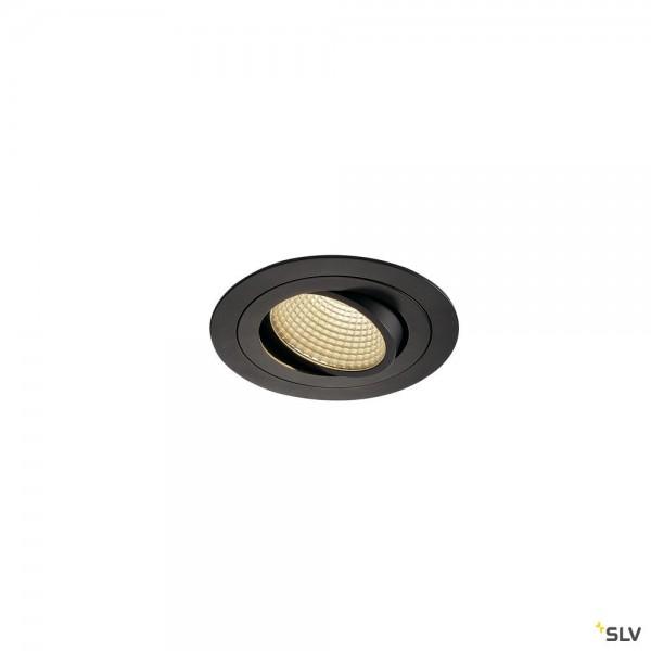 SLV 114230 New Tria 1 Set, Einbauleuchte, schwarz, dimmbar Triac C+L, LED, 16W, 3000K, 1100lm