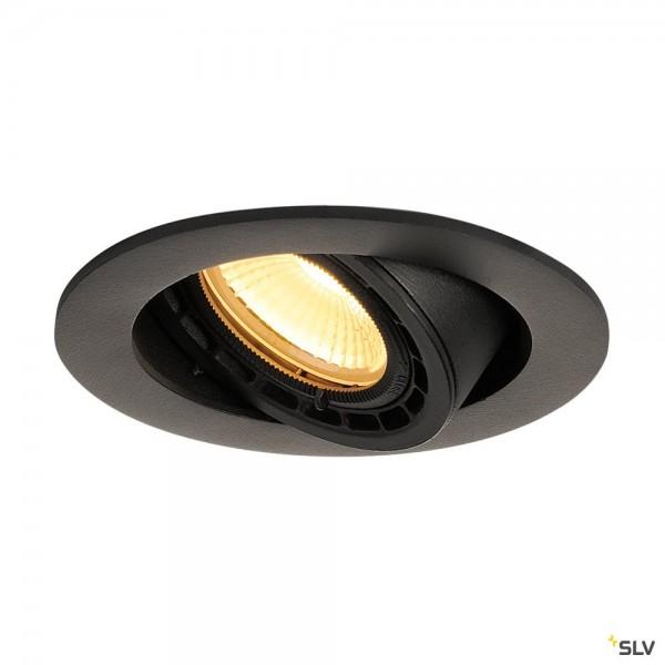 SLV 116310 Supros, Deckeneinbauleuchte, schwarz, dimmbar Triac C+L, LED, 12W, 3000K, 700lm