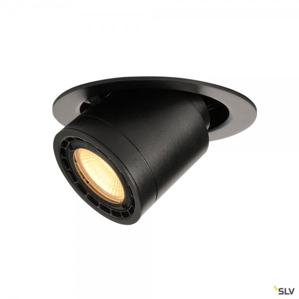 SLV 116320 Supros, Deckeneinbauleuchte, schwarz, dimmbar Triac C+L, LED, 12W, 3000K, 700lm
