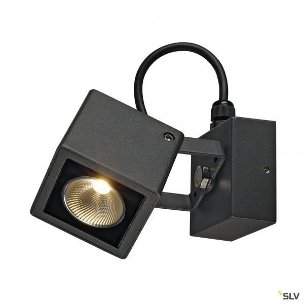 SLV 231045 Nautilus, Wand- und Deckenleuchte, anthrazit, IP54, LED, 9W, 3000K, 520lm
