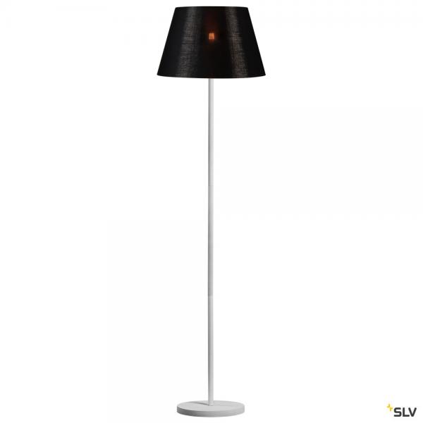SLV 1003031 + 156192 Fenda, Stehleuchte, weiß/schwarz/kupfer, Ø45,5cm, E27, max.60W