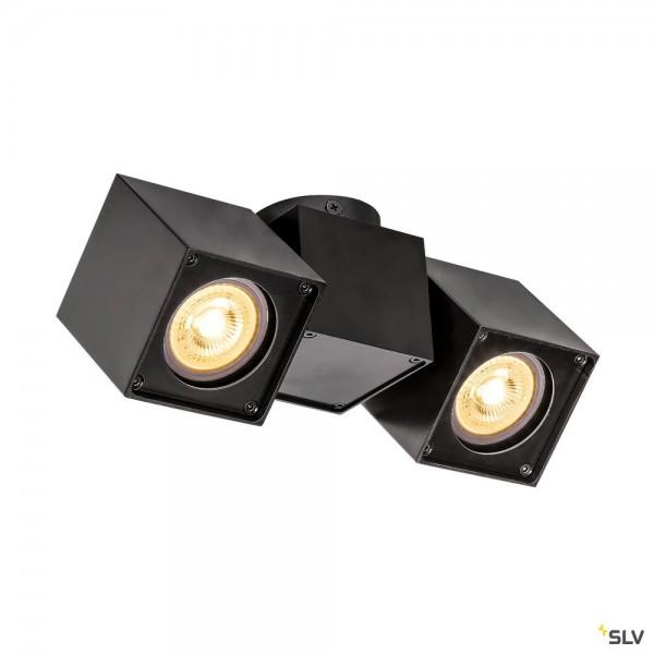 SLV 1002215 Altra Dice, Strahler, schwarz, QPAR51, GU10, max.2x50W