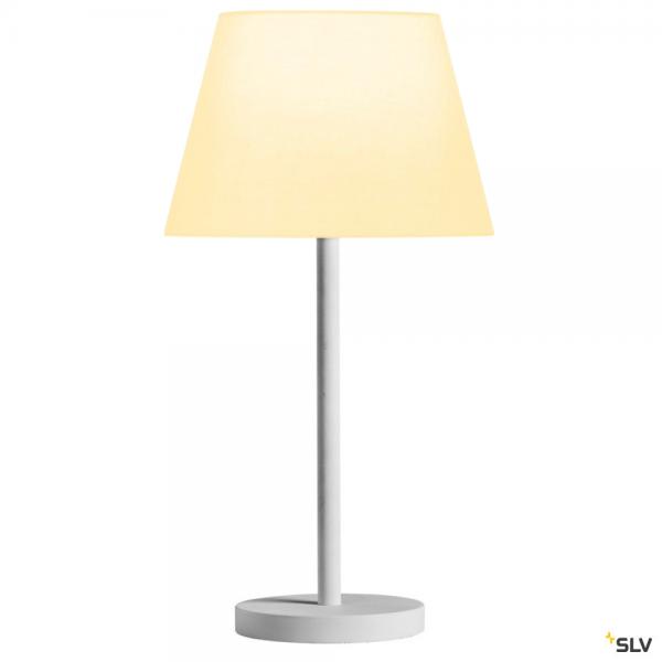 SLV 1003030 + 156161 Fenda, Tischleuchte, weiß, Ø30cm, E27, max.60W