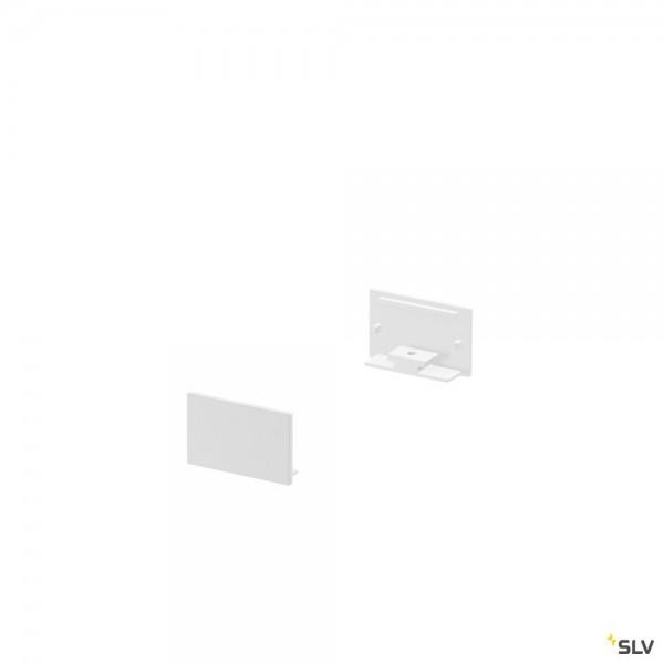 SLV 1000560 Grazia 20, Endkappen, weiß, flach, 2 Stück