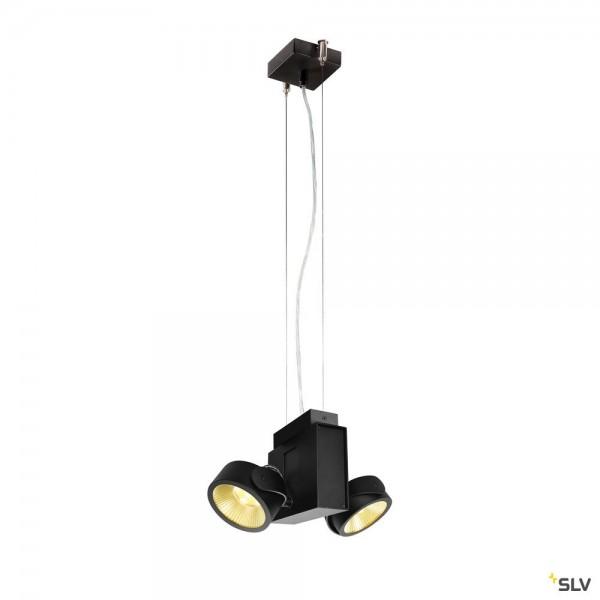 SLV 1001435 + 1001431 Tec Kalu, schwarz, dimmbar Triac C, LED, 31W, 3000K, 1900lm, 24°