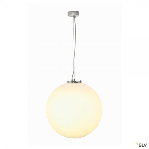 SLV 165400 Rotoball 50, Pendelleuchte, silbergrau/weiß, E27, max.24W