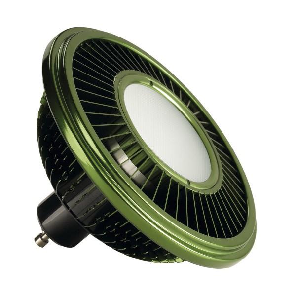 SLV 570542 Leuchtmittel, grün, dimmbar, QPAR111, GU10, LED, 17W, 3000K, 750lm, 140°