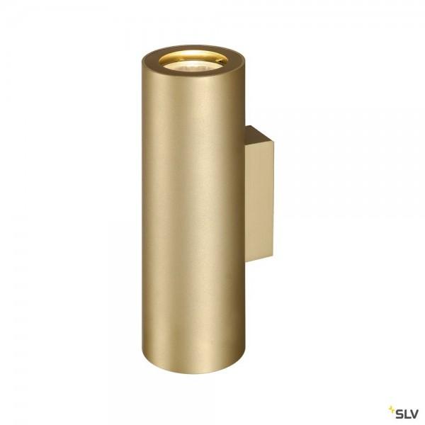 SLV 151803 Enola_B, Wandleuchte, gold, up&down, QPAR51, GU10, max.2x50W