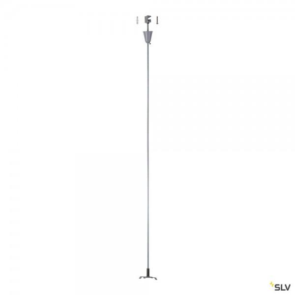 SLV 175164 3Phasen, S-Track, Aufbauschiene, Pendelabhängung, starr, 100cm, silbergrau