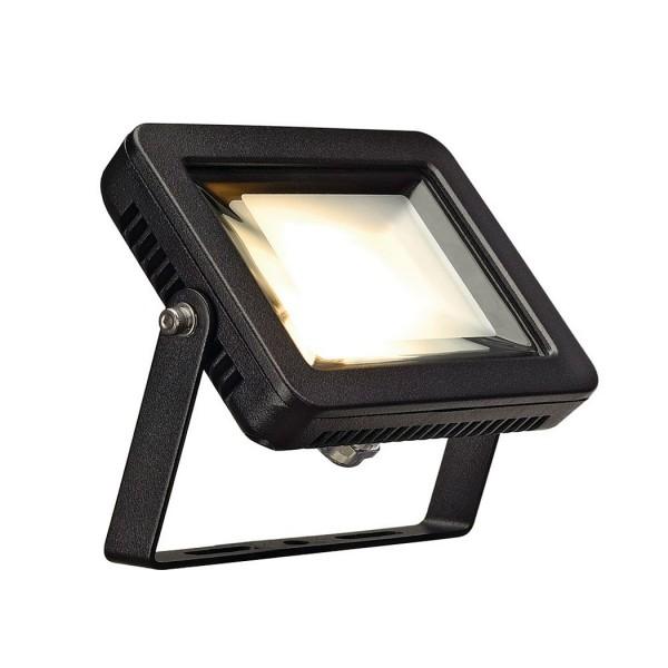 SLV 1000292 Ardo, Strahler, schwarz, mit Netzstecker, IP55, LED, 10W, 3000K, 760lm
