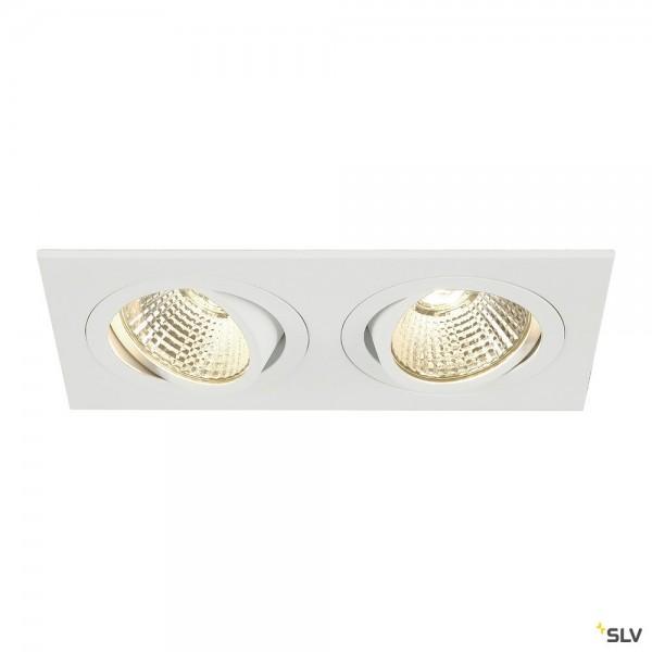 SLV 113891 New Tria 2 Set, Deckeneinbauleuchte, weiß, LED, 14W, 2700K, 1160lm