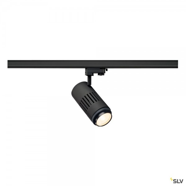 SLV 1000656 Structec Zooming, 3Phasen, Strahler, schwarz, LED, 35W, 3000K, 3000lm, 25- 60°