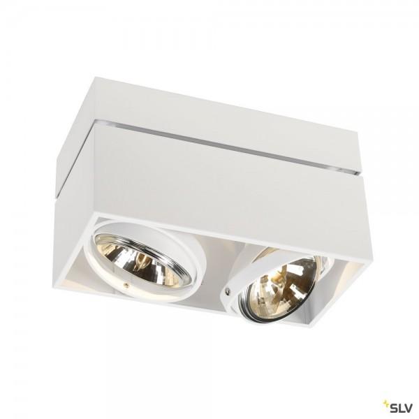 SLV 117131 Kardamod, Deckenleuchte, weiß, G53, max.2x50W