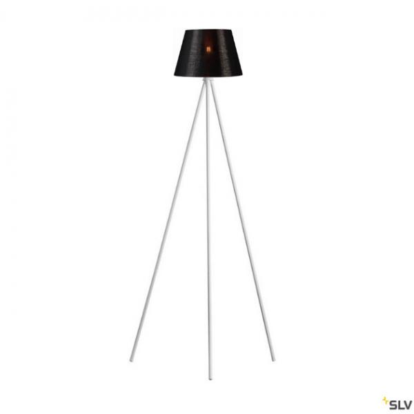 SLV 1003033 + 156172 Fenda, Stehleuchte, weiß/schwarz/kupfer, Ø30cm, E27, max.40W