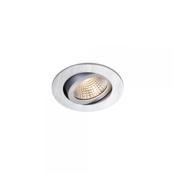 SLV 1000305 Pireq 68 Integrated, Einbauleuchte, alu gebürstet, IP23, LED, 6,6W, 3000K, 580lm