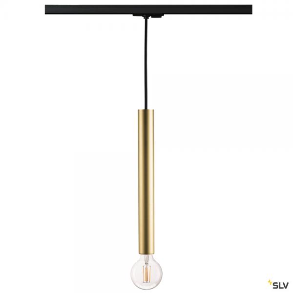 SLV 143120 + 1002162 Fitu, 1 Phasen, Pendelleuchte, schwarz/gold, E27, max.60W
