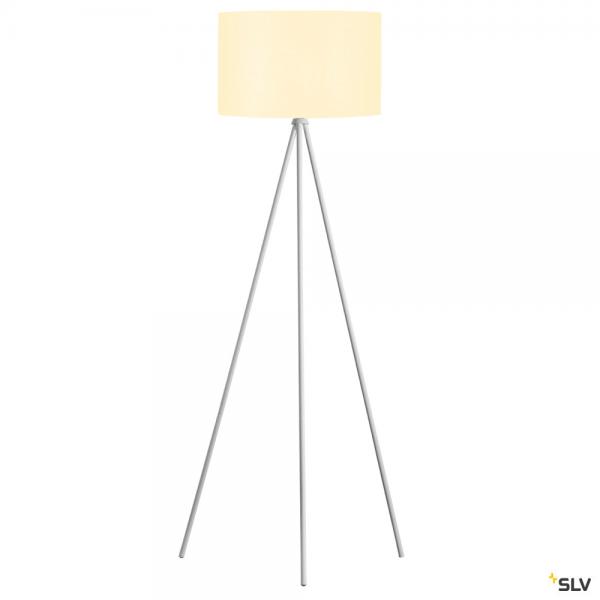 SLV 1003033 + 156111 Fenda, Stehleuchte, weiß, Ø45,5cm, E27, max.40W